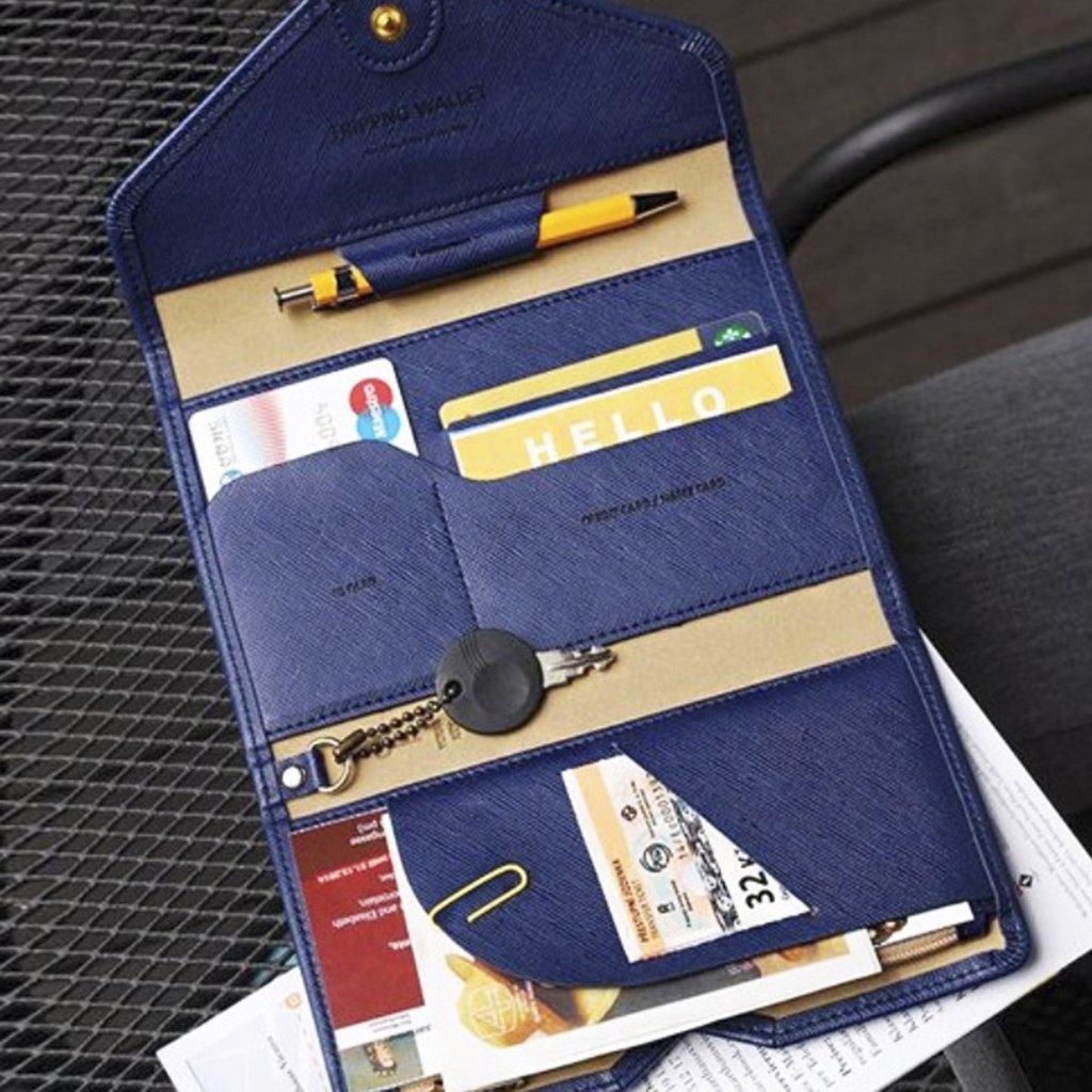 Portefeuille Passeport Porte-Passeport Pochette de Passport Organisateur de Voyage Pochette /étui de Protection pour Passeport// Carte de Cr/édit// Billet Portefeuille en Cuir Vert//Bleu//Rose Rouge