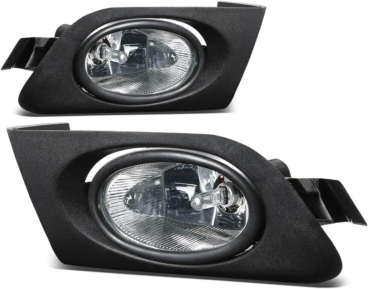 Replacement for Honda Civic Driving Bumper Fog Light+Bulbs+Switch (Clear Lens) - 7th Generation ES EM D17