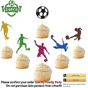 Amazon.com: 24 decoraciones para cupcakes con diseño de ...