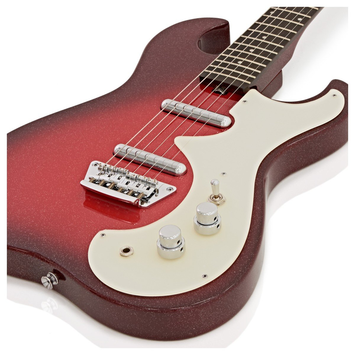 Silvertone 1449 Guitarra Eléctrica Red Sparkle Metallic: Amazon.es: Instrumentos musicales