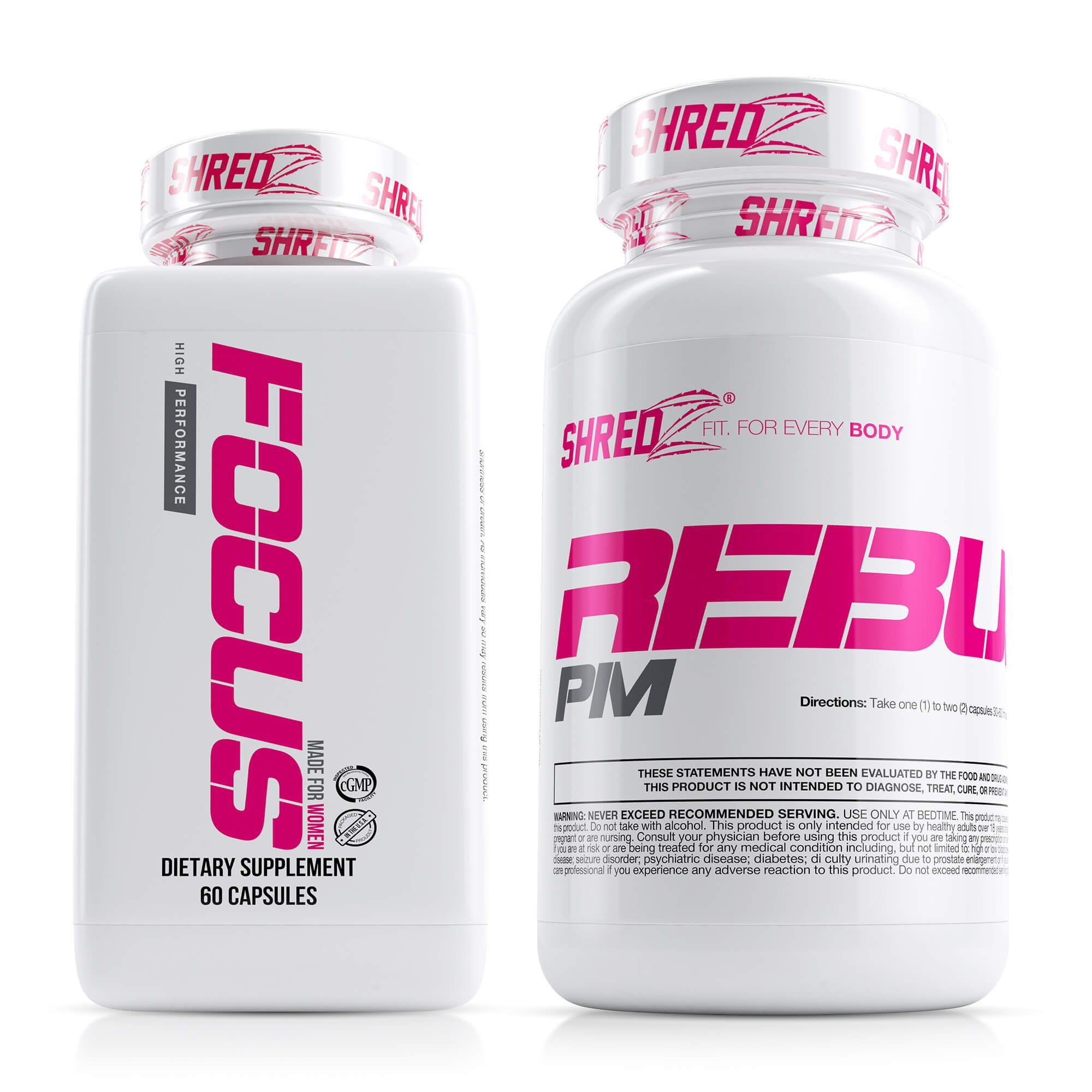 SHREDZ Limitless Supplement Stack for Women, Rebuild-PM + Focus, Boost Focus During the Day, Sleep Better at Night (30 Day Supply) by SHREDZ (Image #1)