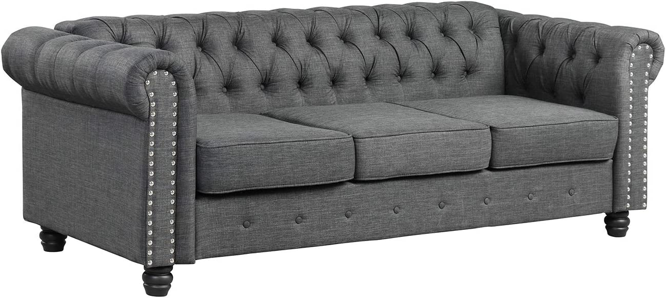 Sofas for Living Room Furniture Sets Sofa Morden Fort Couches for Living Room Fabric Linen Grey