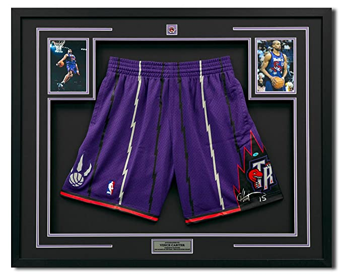 ef0f7e5c4 Amazon.com  Vince Carter Toronto Raptors Signed Mitchell Ness Basketball  Shorts 30x34 Frame  Sports Collectibles