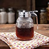 The Pioneer Woman Clear Syrup Pourer Dispenser - Embossed Pressed Glass