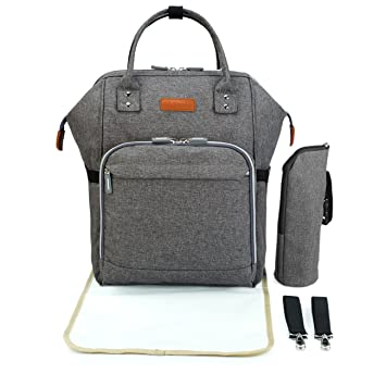 Baby Changing Backpack - Wide Open Baby Changing Bag Rucksack Set for Mums  and Dads Pram