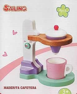 Toy Planet - Cafetera de madera, talla pequeña: Amazon.es: Juguetes y juegos