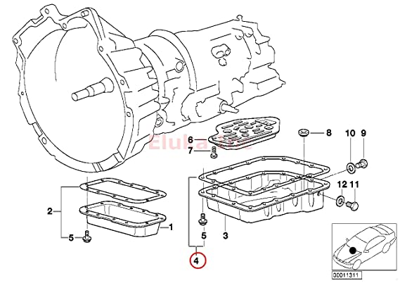 Amazon Com Bmw Automatic Transmission Pan Gasket With Pan Bolts