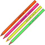 Staedtler Textsurfer Dry Highlighter Pencil 128 64 Drawing for Writing Sketching Inkjet,paper,copy,fax(pack of 4) (Color Mix-4 Pencils)