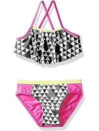 d929b568484c0 Pink Platinum Girls  Triangle Print Two Piece Swimsuit