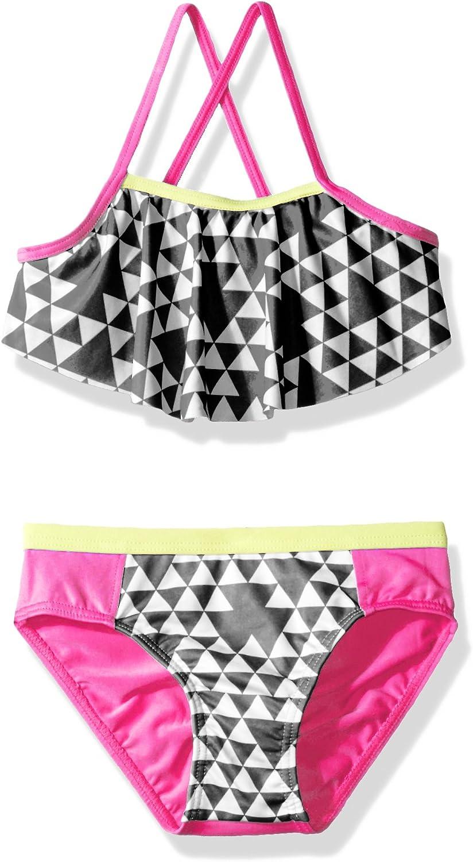 Vincent/&July 2PCS Girls Summer Floral Print Swimwear Swimsuit Bikini Shorts Set Outfits