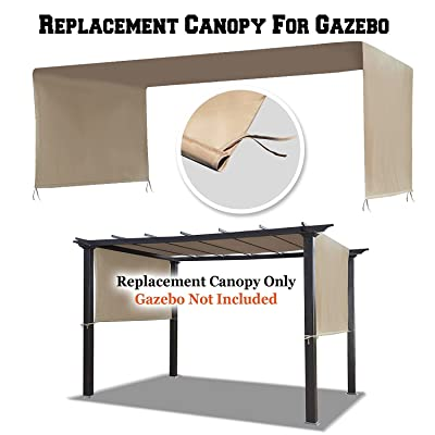 BenefitUSA G260-CV Universal Top Cover for Pergola Structure (18' L x 8.3' W) Replacement Canopy, Beige : Garden & Outdoor