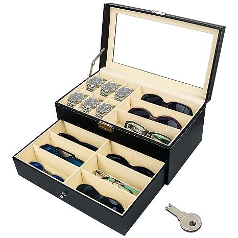 Amazon.com: Jolitac - Estuche organizador para 12 gafas de ...