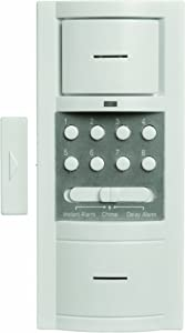 Xodus Innovations HS4317D Carlon Thomas and Betts Battery Powered Wireless Security Door Alarm with Key Pad, White