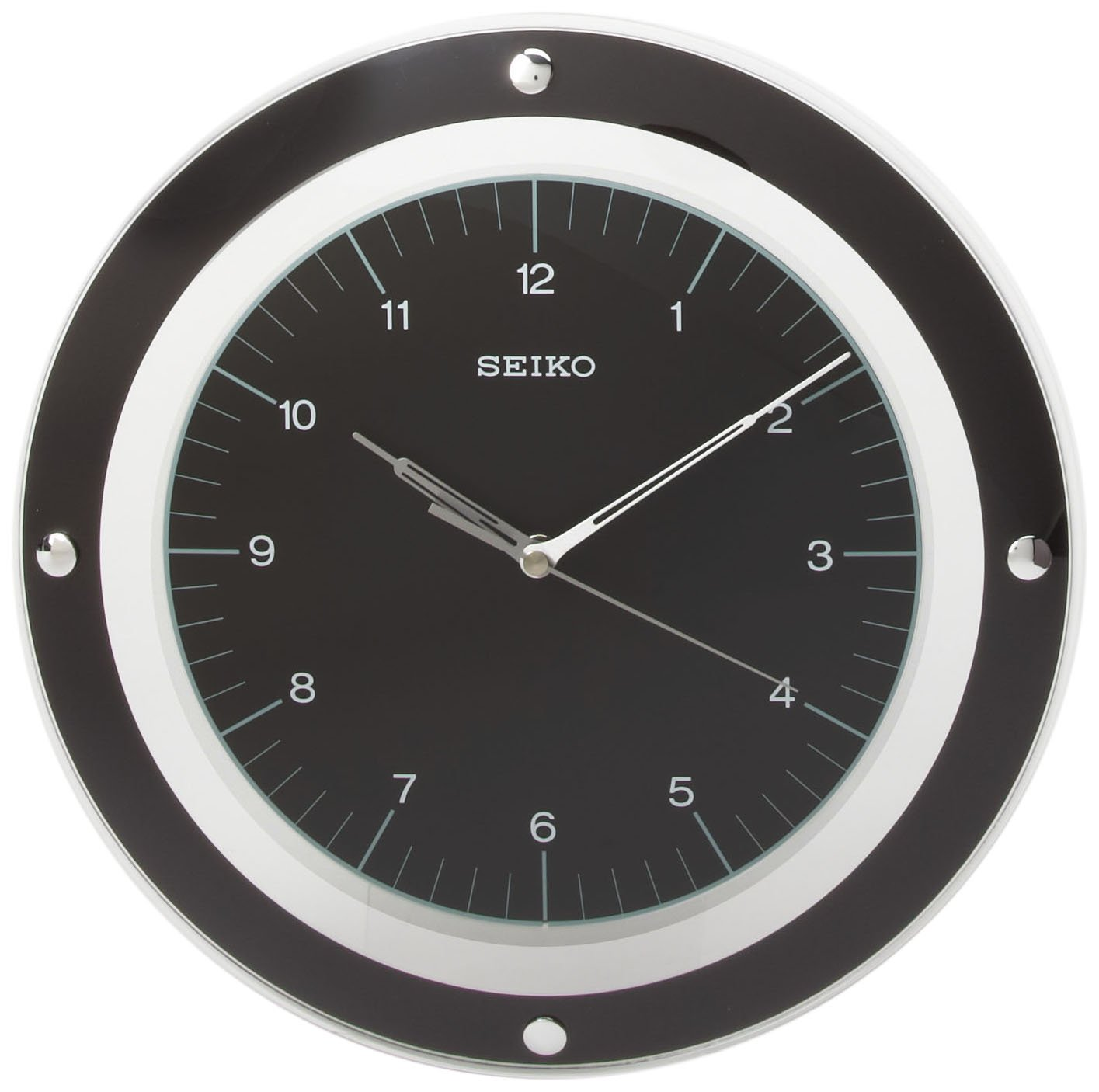 Amazon seiko wall quiet sweep second hand clock curved glass amazon seiko wall quiet sweep second hand clock curved glass crystal blackdial qxa314kl watches amipublicfo Choice Image