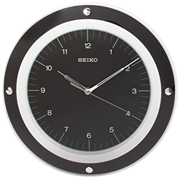 Amazon.com: Seiko Wall Quiet Sweep Second Hand Clock Curved Glass ...