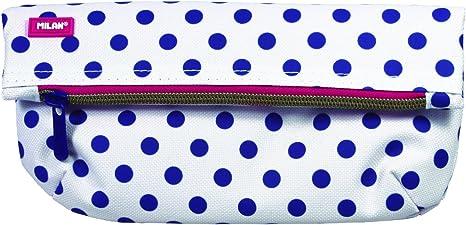 Milan Dots 3 081138DT3 Estuches, 23 cm, Azul/Blanco: Amazon.es: Equipaje