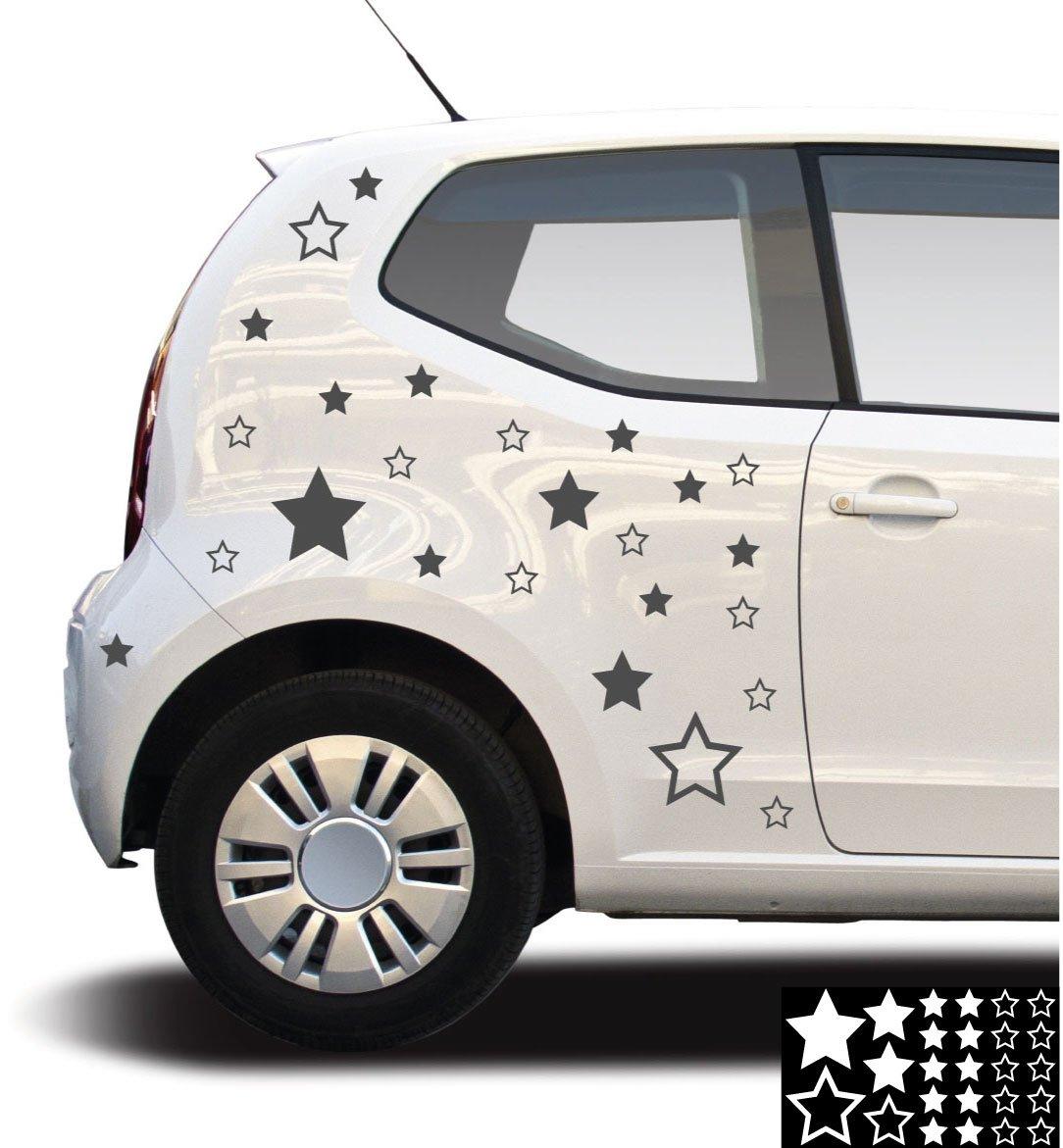 kleb-drauf® - 25 Sterne / Pink - glänzend - Aufkleber zur Dekoration ...