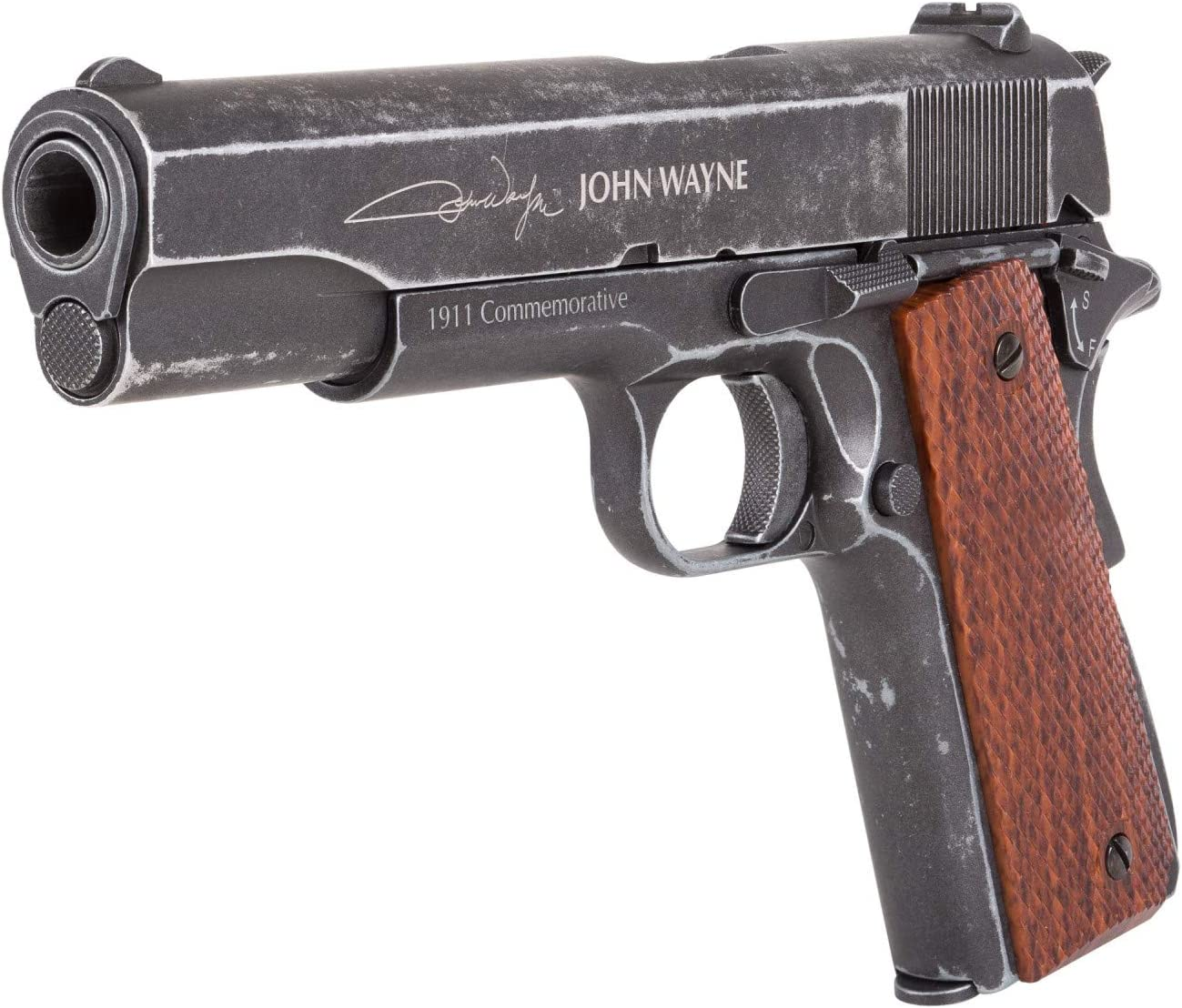 John Wayne 1911 Metal CO2 BB Pistol, Brown Grips air Pistol