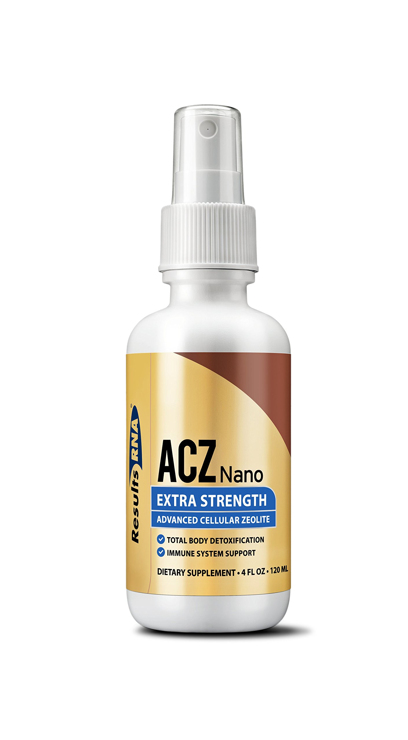 Results RNA ACZ Nano Advanced Cellular Zeolite Extra Strength   Great For Total Body Detoxification and Immune System Health - 4oz Bottle by Results RNA