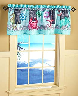 The Lakeside Collection Chalkboard Sealife Window Valance