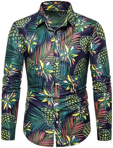 Innerternet-Camisa de Hombre, CX103 Camisa de Solapa de Manga ...