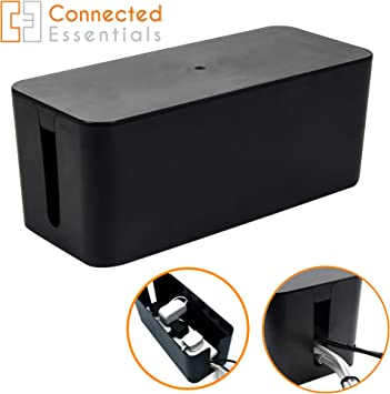 Caja organizadora de cables   Ocultar y ocultar bloques de extensión y cables eléctricos de TV,