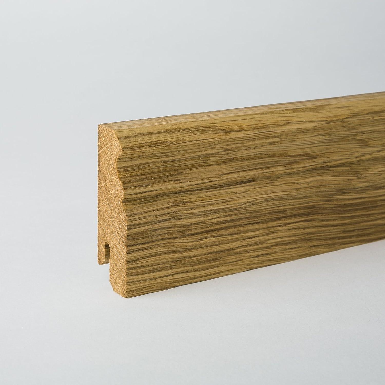 /ch/êne/ Bois massif/ /80/x 20/x 2400/mm /Plinthe Profil de Berlin 80/mm/ /Pied en bois v/éritable Barre/