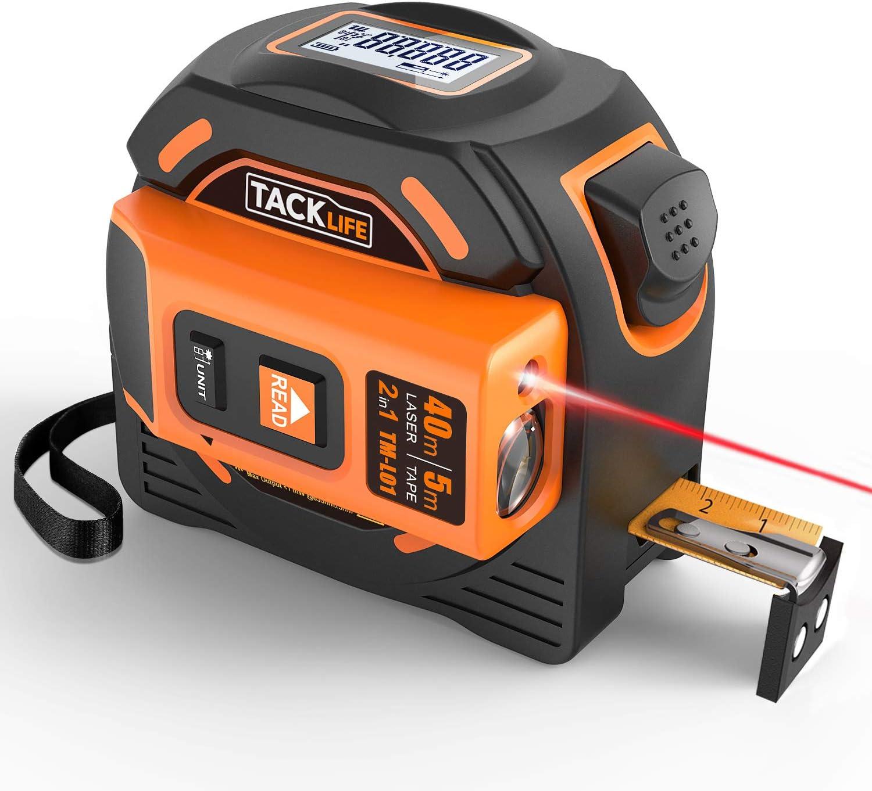 Tacklife Laser Tape Measure 2-in-1