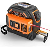 Laser Tape Measure 2-in-1, Laser Measure 131 Ft, Tape Measure 16 Ft Metric and Inches with LCD Digital Display, Movable…