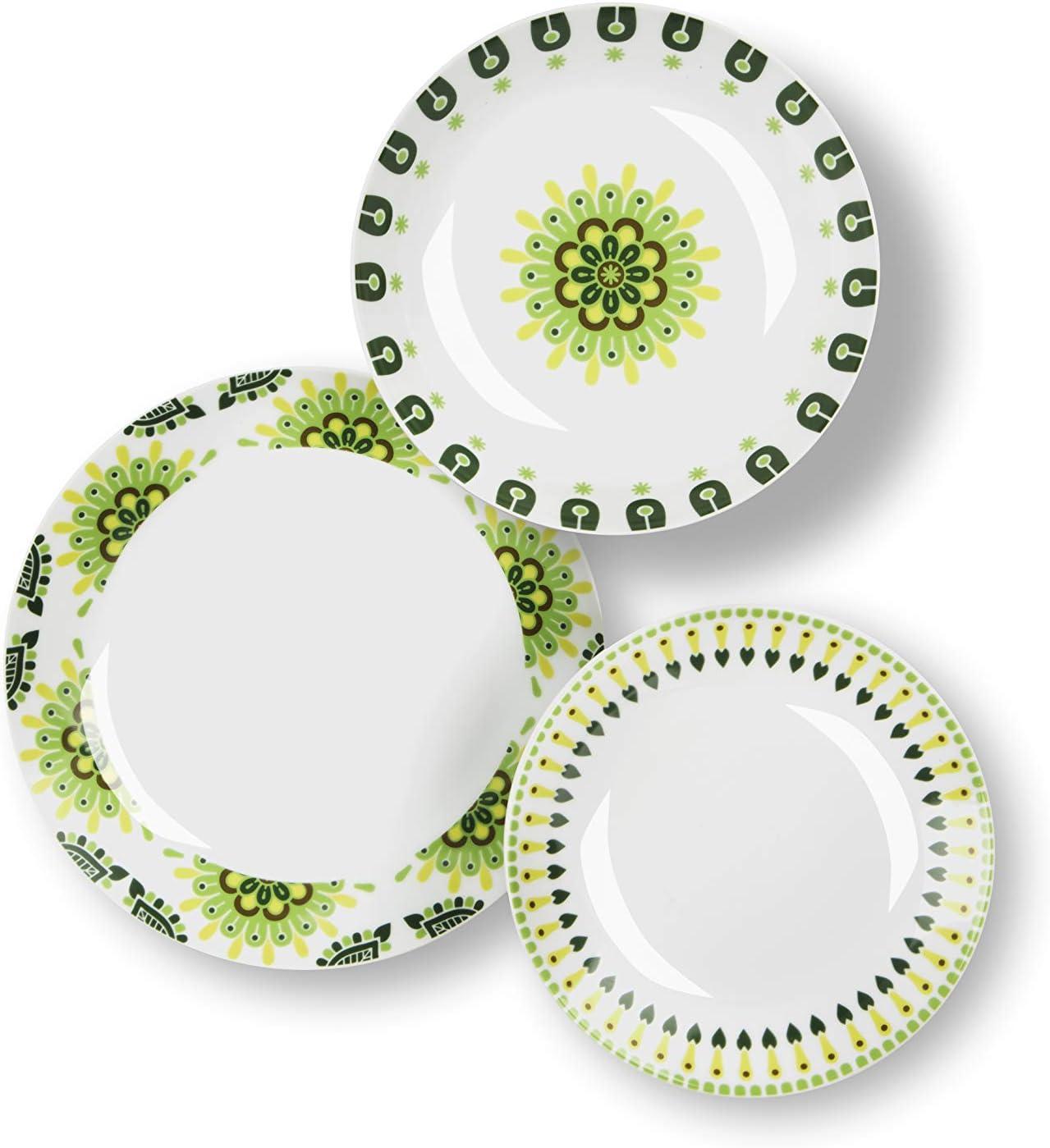Gelb Keramik Excelsa Tropical Teller//L/öffelablage