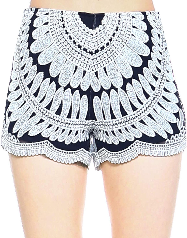 Crochet Women Boy Shorts Summer Fashion Beach Cover-up Bikini Bottom Crochet bikini swimwear shorts Granny square