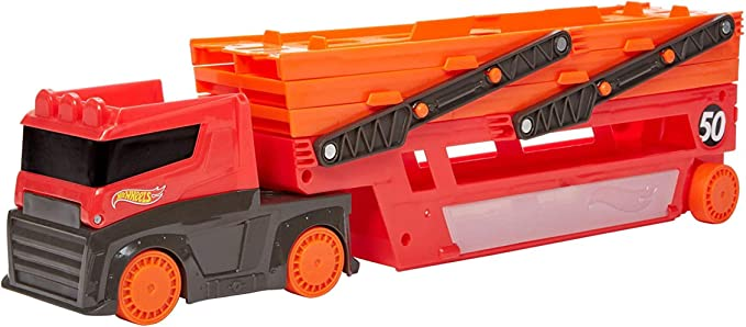 Hot Wheels GHR48 Mega Hauler with Storage for up to 50 1:64 scale cars ages 3 and older,Mattel,GHR48