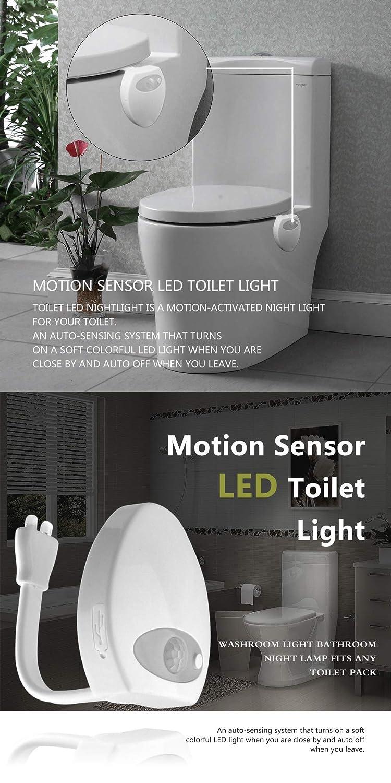 USB Ladung und UV Sterilisatorlicht Innen WC Schüssel Sitzlicht ...