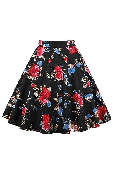 Verano Mujer Una Línea Incluye Faldas Flores Y Animales Mode De ...