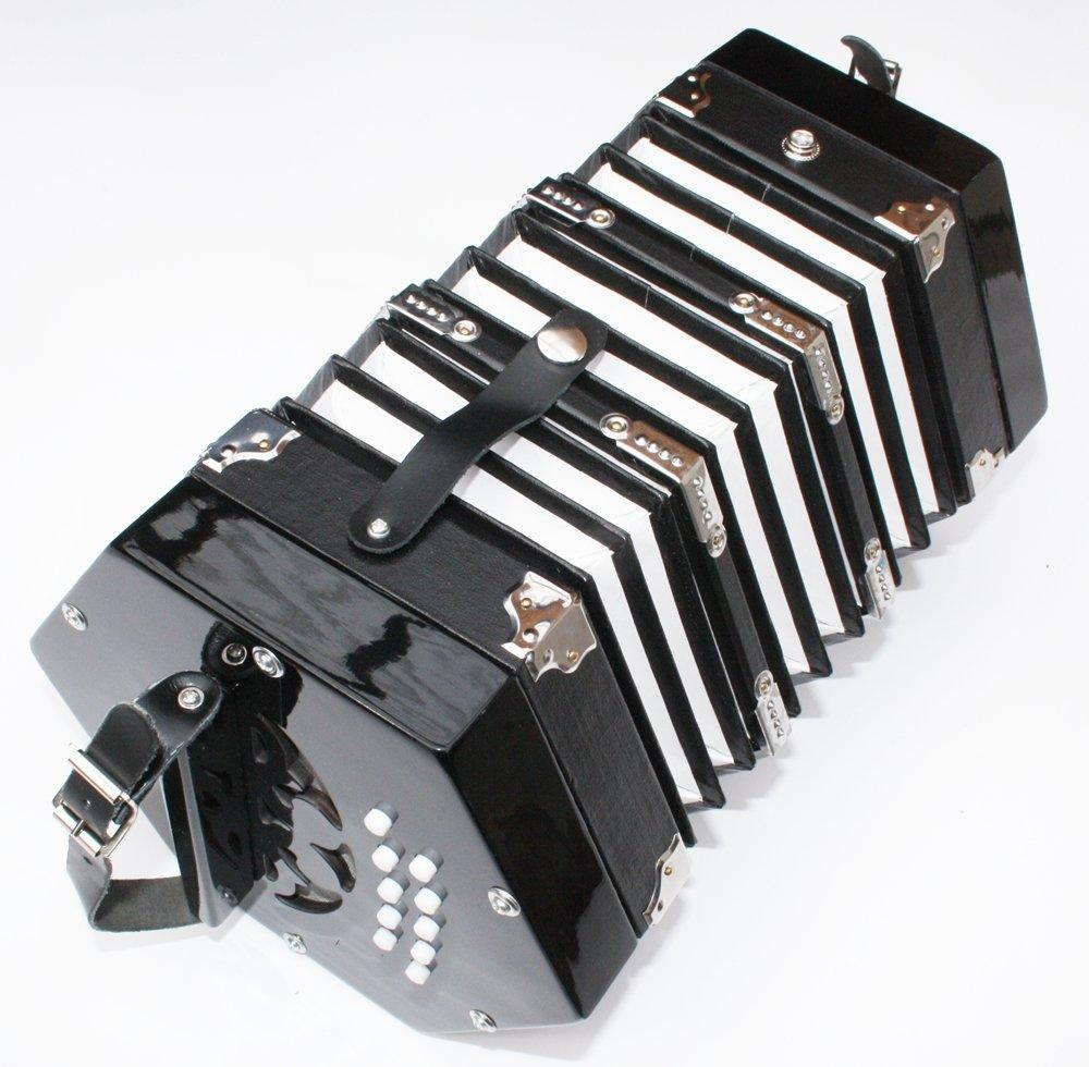 Cherrystone Accordéon Concertina noir 2 x 10 touches 4260180881684