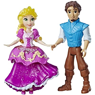 Disney Princess Rapunzel & Eugene Fitzherbert, 2 Dolls, Royal Clips Fashion, One-Clip Skirt: Toys & Games
