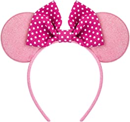 SIX Minnie Mouse Haarreif Disney Verkleidung Rosa Minnie Haarschmuck Minnie Kostüm (305-240)