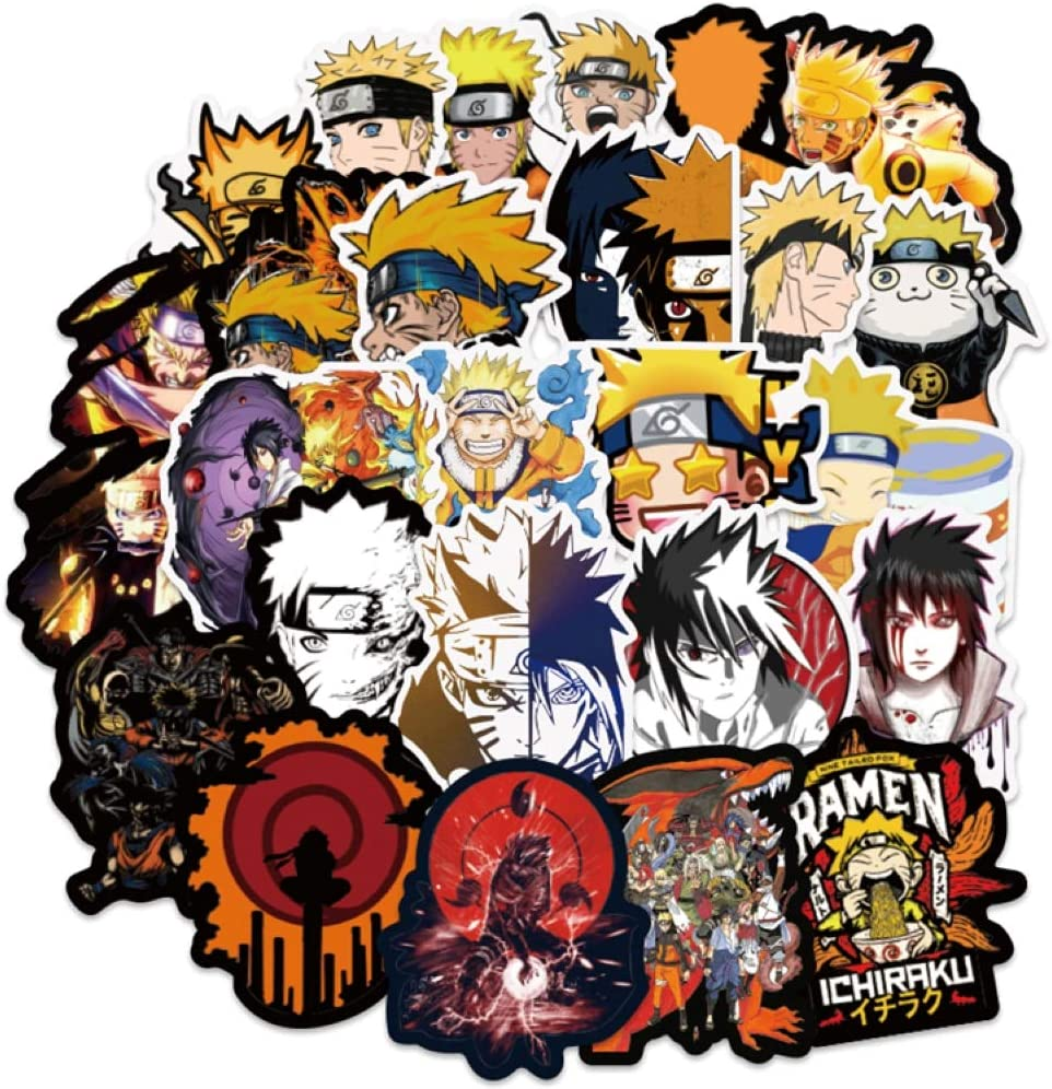 Amazon.com: cillop Naruto Shippuden- 100 Pieces Japanese Anime Naruto  Shippuden Laptop Stickers Vinyl Decal Waterproof Skateboard Car Snowboard  Bicycle Luggage…: Arts, Crafts & Sewing