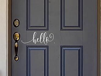 Welcome Vinyl Decal with Laurel Wreath Symbol Home or Business Decal 9.5 W x 5 H Home or Business Decal 9.5 W x 5 H Crafty Vinyl Welcome Vinyl Front Door Decal