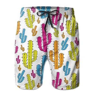 70000a56b1 Bearded Squirrel Cactus Men Swim Trunks Quick Dry Board Shorts Pants Pocket
