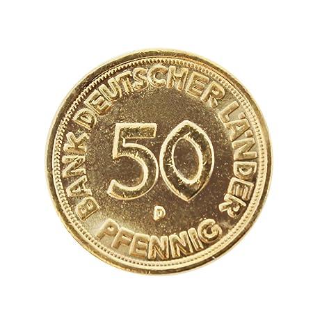 Amazonde Echte 50 Pfennig Münze Von 1968 Vergoldet Zum Geburtstag
