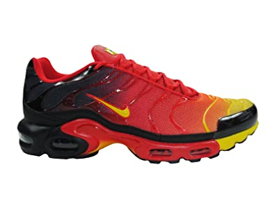 nike tuned 1 homme chaussures black-orange-yellow