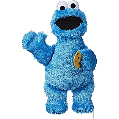 Sesame Street Feed Me Cookie Monster Plush: Interactive 13 Inch Cookie Monster, Says Silly Phrases, Belly Laughs, Sesame Street Toy for Kids 18 Months Old and Up: Toys & Games