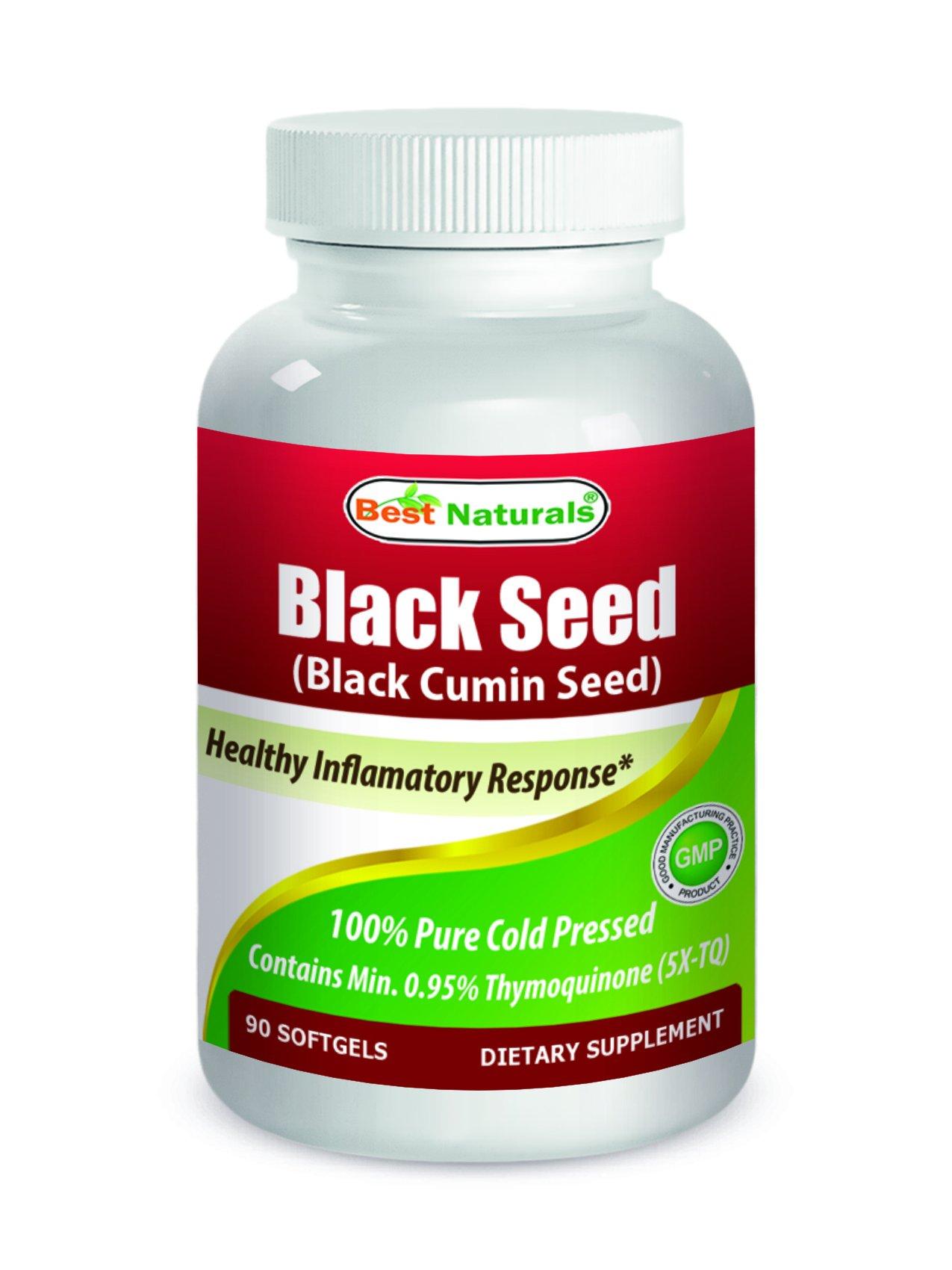 Best Naturals Black Seed Oil 500 mg 90 Softgels