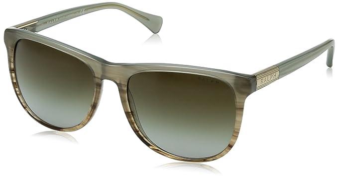 RALPH Womens 0RA5224 16267Z Sunglasses, Olive Horn Gradient/Olive Hrn/Greengradient, 58 Ralph Lauren