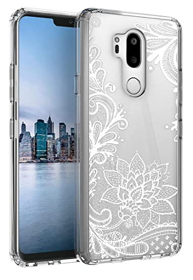 22b0a3584 LG G8 ThinQ Case,LG G8 Case SunStory TPU Grip Bumper and Clear Flower  Transparent