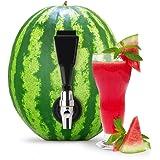 KeggerMelon Watermelon Keg Tapping Kit Spigot Instant Keg Silver Black with Bonus Drilling Tool Made by Mello