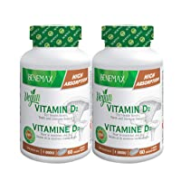 Benemax Vitamin D. Plant Based - Vegan Certified. Healthy Bones. Fast / High Absorption...