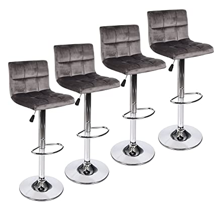 eb3665e7c828 Image Unavailable. Image not available for. Color  PULUOMIS Square Back  Modern Hydraulic Adjustable Swivel Bar Stools