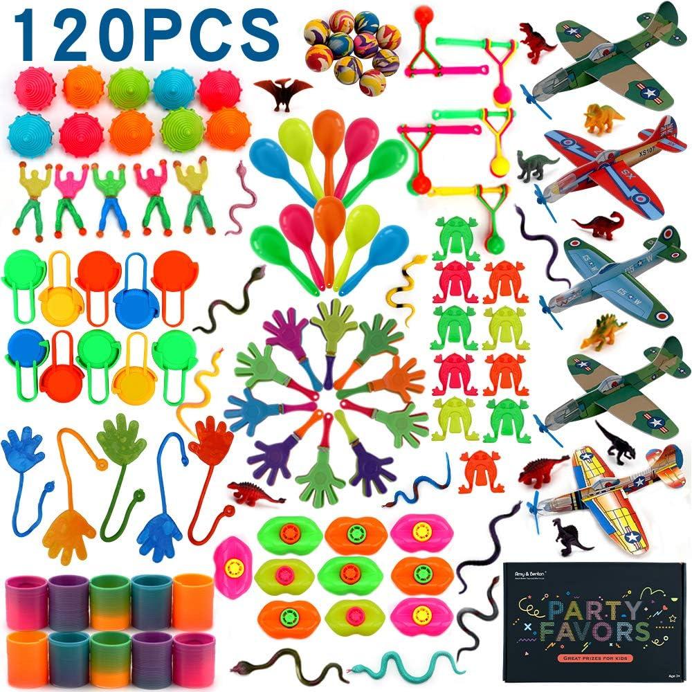 nicknack Surtido de 125 juguetes para rellenar piñatas y bolsas de regalo de fiestas de cumpleaños infantiles o para el colegio